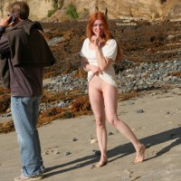 Standing Redhead Flashing Shaved Pussy - Flashing, Long Hair, Red Hair, Shaved Pussy, Looking At The Camera, Pussy Flash , Pale Skin, Lifting Her Dress, Standing Flashing In Beach, Long Loose Red Hair, Public Pussy Flash, Pussy Flash On The Beach, Bottomless Shaved Redhead On Beach, Unaware Of Flash