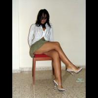 Nude Girlfriend on heels:Alizia's Chair