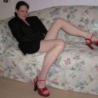 Elena In Black Sport Coat & Heels
