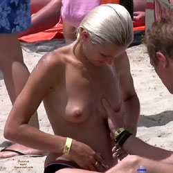 Touching Boobs At The Beach - Big Tits, Blonde Hair, Erect Nipples, Exposed In Public, Firm Tits, Nipples, Nude In Nature, Nude Outdoors, Topless Beach, Topless Girl, Topless Outdoors, Topless, Beach Tits, Beach Voyeur, Hot Girl, Sexy Boobs, Sexy Face, Sexy Girl, Sexy Woman , Blonde Girl, Nude, Outdoor, Beach, Touching Tits, Big Tits, Nipples