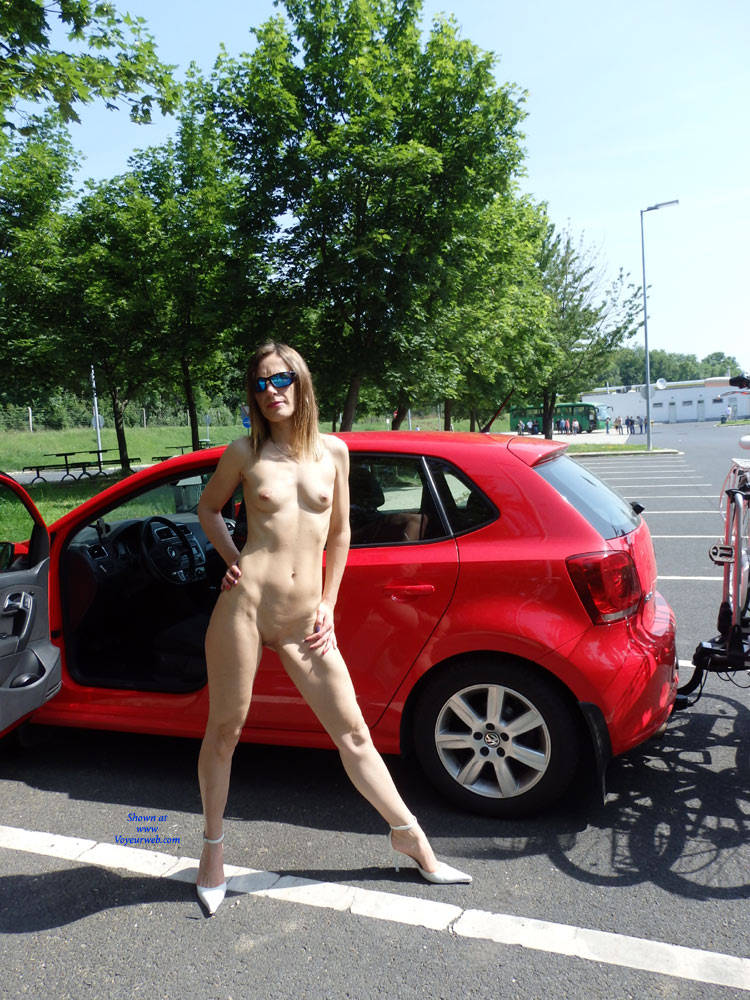 Pic #1On The Way For A Cycling Tour - Public Place, Public Exhibitionist, Medium Tits, High Heels Amateurs, Shaved