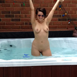 Naked Brunette Inside A Jacuzzi - Big Tits, Brunette Hair, Firm Tits, Full Frontal Nudity, Full Nude, Nipples, Shaved Pussy, Water, Wet, Sexy Figure, Sexy Girl, Sexy Legs , Brunette, Jacuzzi, Swimming Naked, Sunglasses, Tits, Pussy