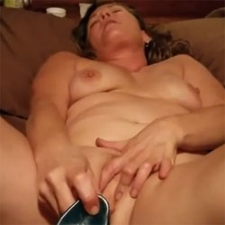 Getting Herself Off!!