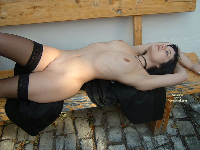 Nude Young Sexy Girl Lying On A Bench Outdoors - Black Hair, Shaved Pussy, Stockings, Naked Girl, Nude Amateur , Naked Pose, Flat Belly, Thin Model On Back, Blad Pussy, Black Thigh High Stockings, Labia Piercing, Black Hold-up Stockings, Naked On Bench, Resting On A Street Bench, Full Lips, Black And Silver Necklace, Totally Naked, Lying On A Street Bench