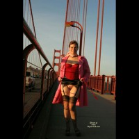 Golden Gate Morning Flash - Brunette Hair, Flashing, Landing Strip, Nude Outdoors, Naked Girl, Nude Amateur , Flashing Pic, Sexy Feminine Hips And Thighs, Stockings And Heels, Nice Flash On Gg Bridge, Frontal Bottomless Upskirt, Stripped Bush, Pussy Flash